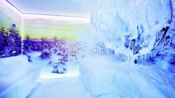 Auch optisch ist die Schneesauna ein echtes Highlight