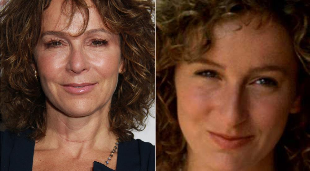 """Jennifer Grey im Jahr 2017 (l.) und als Baby in """"Dirty Dancing"""" im Jahr 1987"""