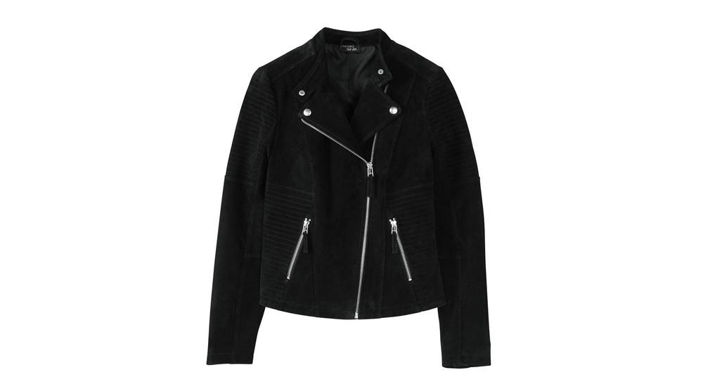 Eine Lederjacke der Lidl Esmara Kollektion by Heidi Klum