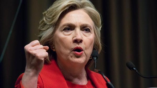 Hillary Clinton bei einem Auftritt in New York