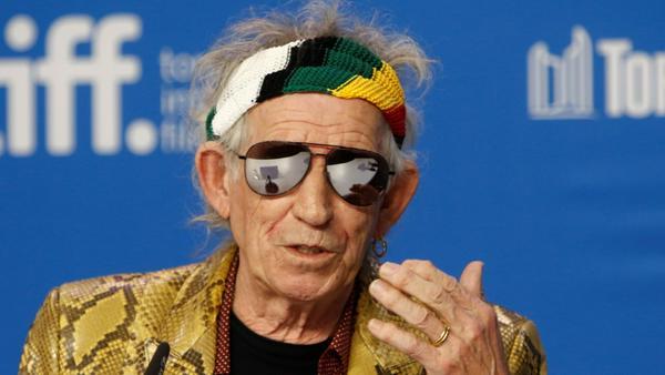 Keith Richards ist auch mit über 70 noch als Rockstar aktiv