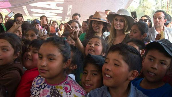 Paris Hilton bei ihrem Besuch in Mexiko