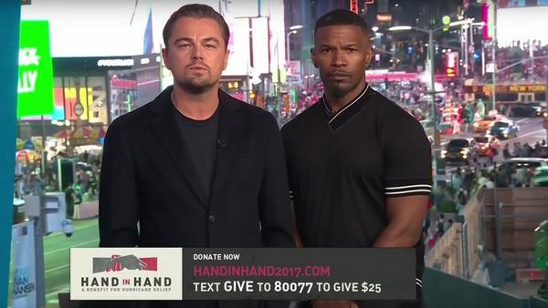 Leonardo DiCaprio (l.) und Jamie Foxx hielten die Eröffnungsrede des Spendenmarathons