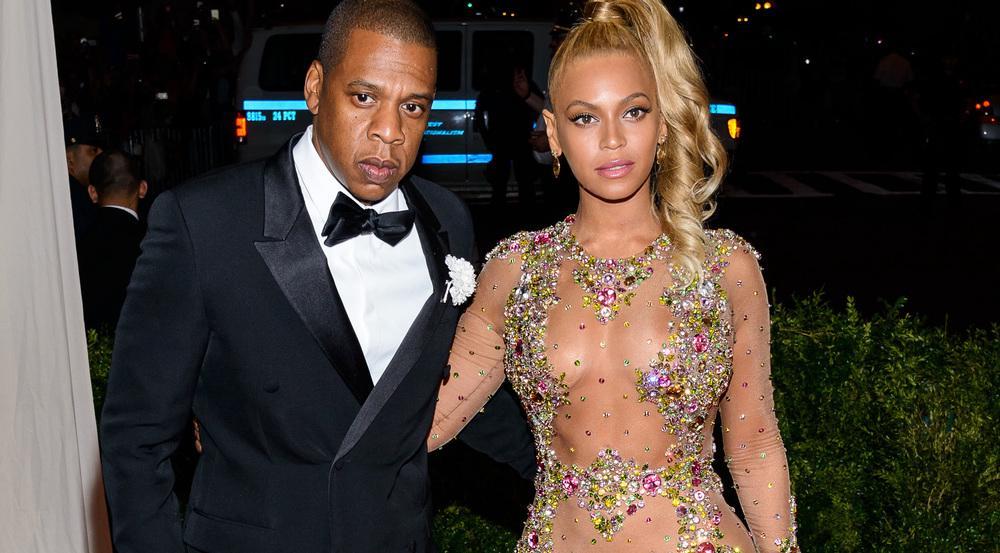 Jay Z und Beyoncé bei einem Auftritt in New York