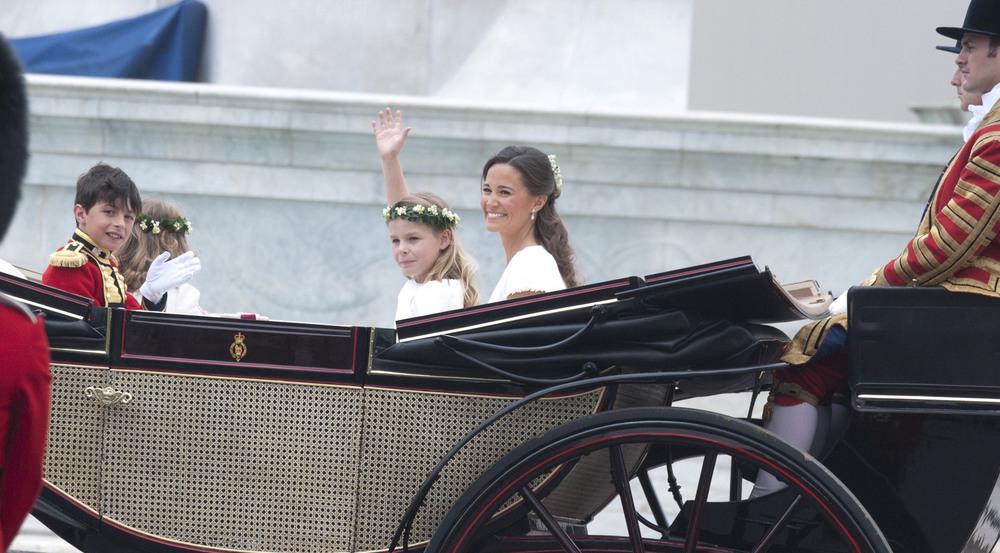 Pippa Middleton auf der Hochzeit von William und Kate im Jahr 2011