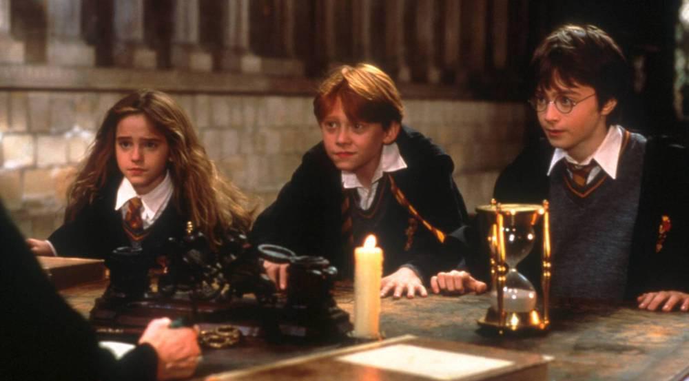 Emma Watson (v.l.), Rupert Grint und Daniel Radcliffe alias Hermine, Ron und Harry im Film