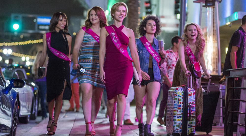 Zoë Kravitz (v.l.), Jillian Bell, Scarlett Johansson, Ilana Glazer und Kate McKinnon in