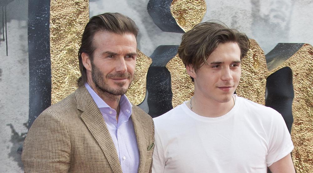 Brooklyn Beckham zusammen mit Papa David bei einer Filmpremiere im Mai 2017