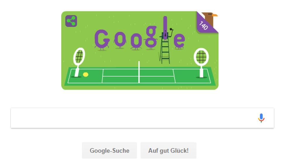 Google feiert 140 Jahre Wimbledon