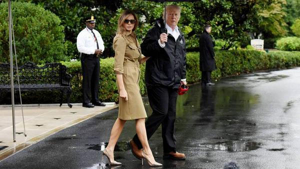 Melania und Donald Trump am 2. September in Washington - auf dem Weg nach Texas: Sie trägt High Heels von Manolo Blahnik