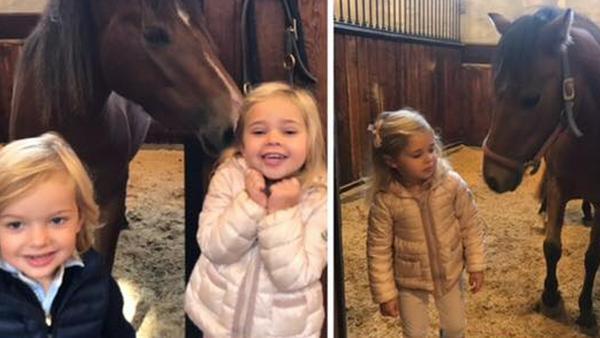 Zwei kleine Royals und ein Pferd: Diese Bilder-Collage postete Madeleine von Schweden
