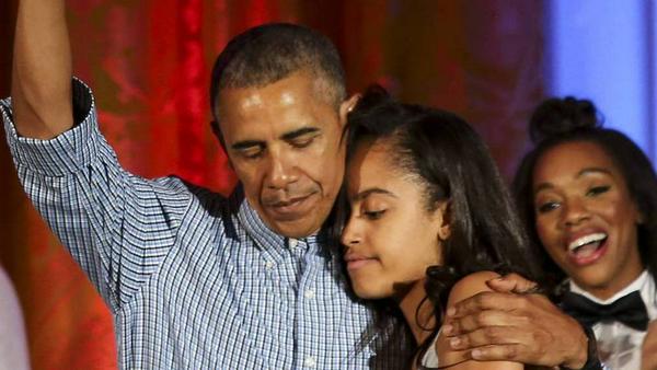 Barack Obama und seine Tochter Malia haben eine enge Bindung