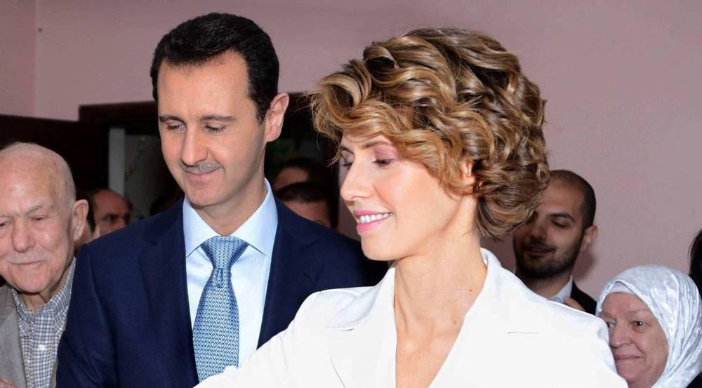 Asma al-Assad mit ihrem Mann Baschar