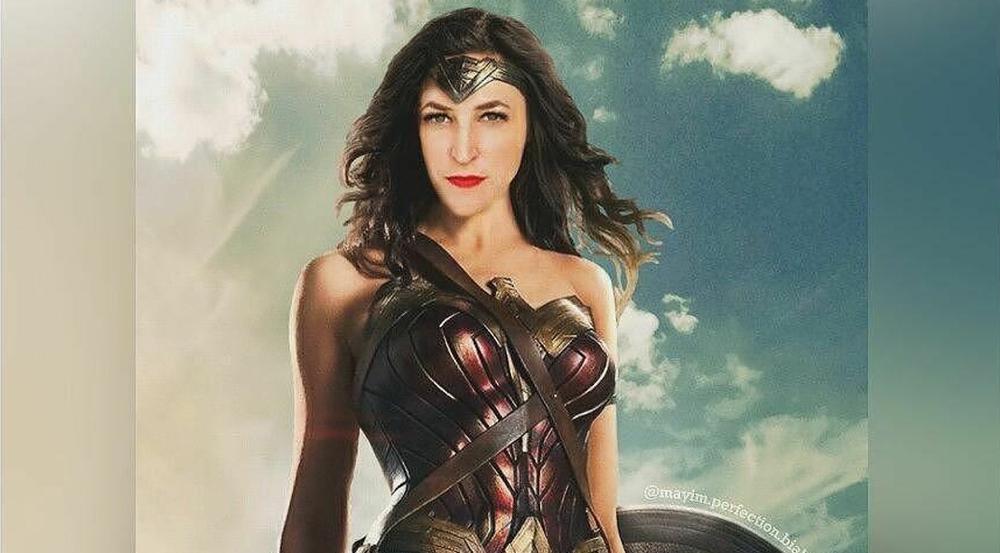 Geschickte Montage: Mayim Bialik als Wonder Woman