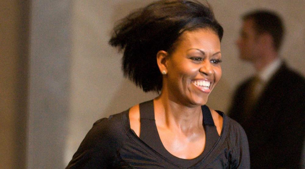 Zeigte sich auch schon vor Jahren begeistert von Bewegung: Michelle Obama