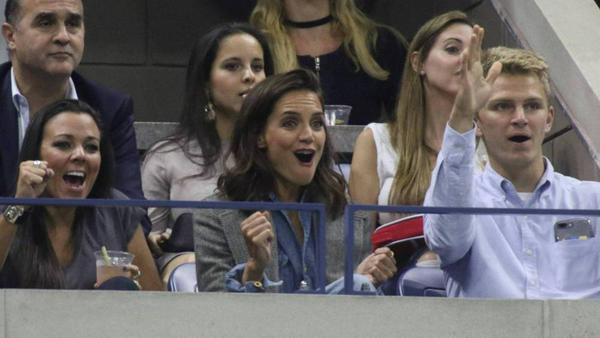 Katie Holmes jubelt bei den US Open ohne Jamie Foxx