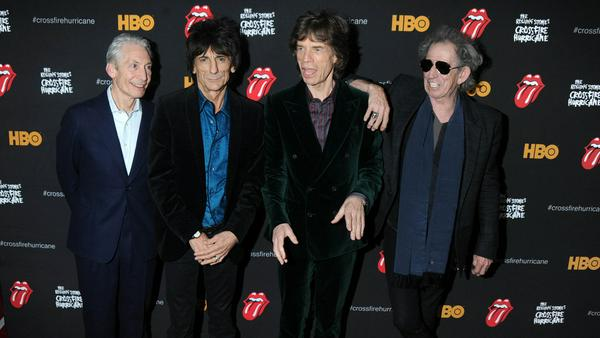 The Rolling Stones (v.l.): Charlie Watts, Ron Wood, Mick Jagger und Keith Richards
