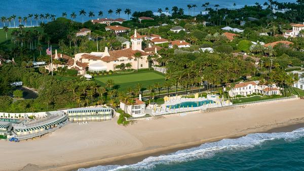 Trumps Luxusanwesen in Mar-a-Lago aus der Vogelperspektive