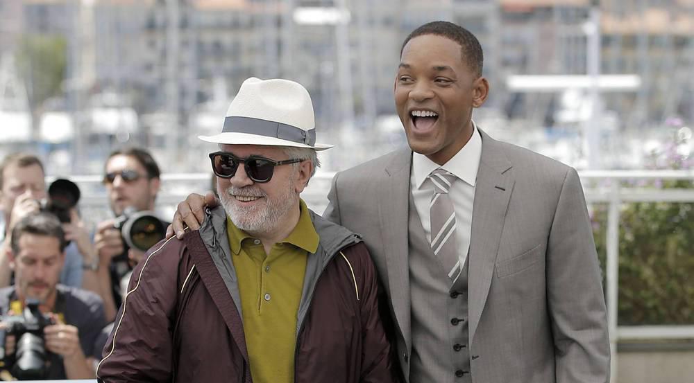 Wenn es nicht um Netflix geht, verstehen sich die Jury-Kollegen Pedro Almodóvar und Will Smith prächtig