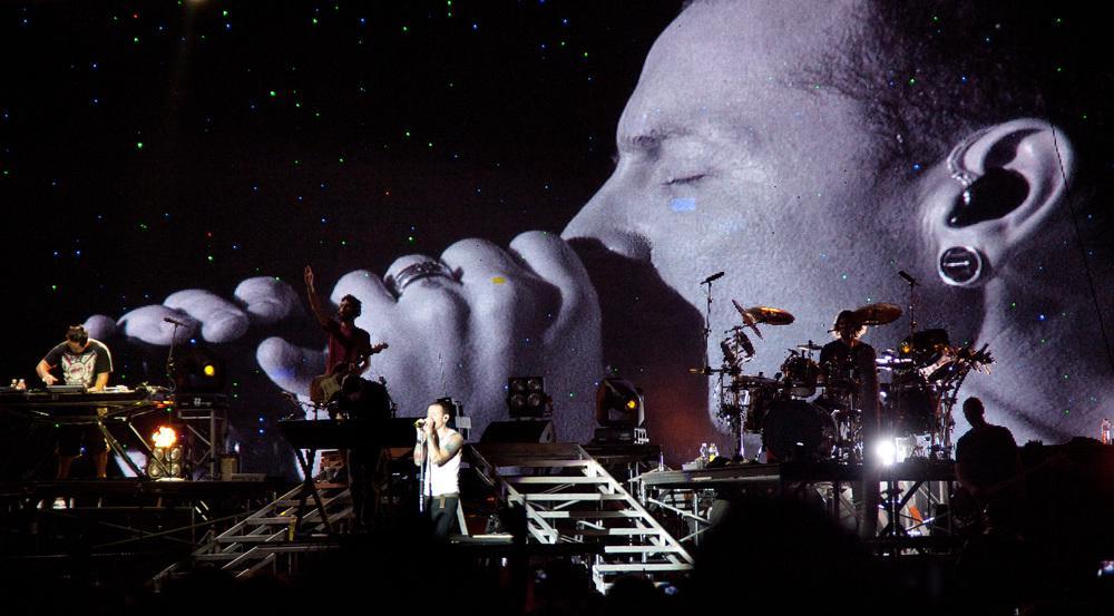 Linkin Park mit Frontman Chester Bennington