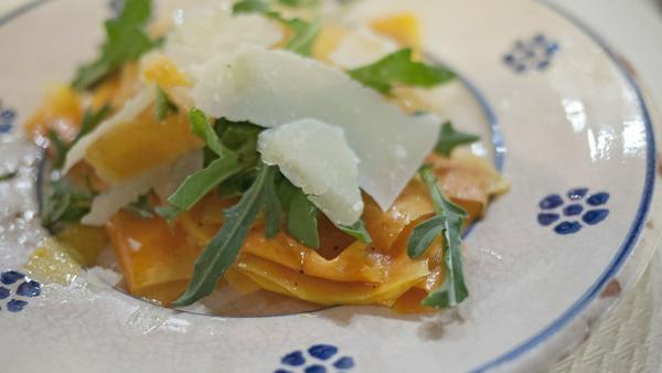 Carpaccio geht auch vegetarisch und ist auf jeder Tafel ein echter Hingucker