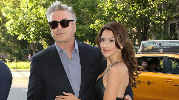 Alec Baldwin mit seiner Frau Hilaria in New York
