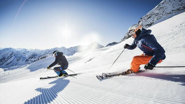 Sonniger Traumtag auf dem Stubaier Gletscher