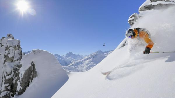 Berühmt für seine Pulverschnee-Touren: St. Anton am Arlberg