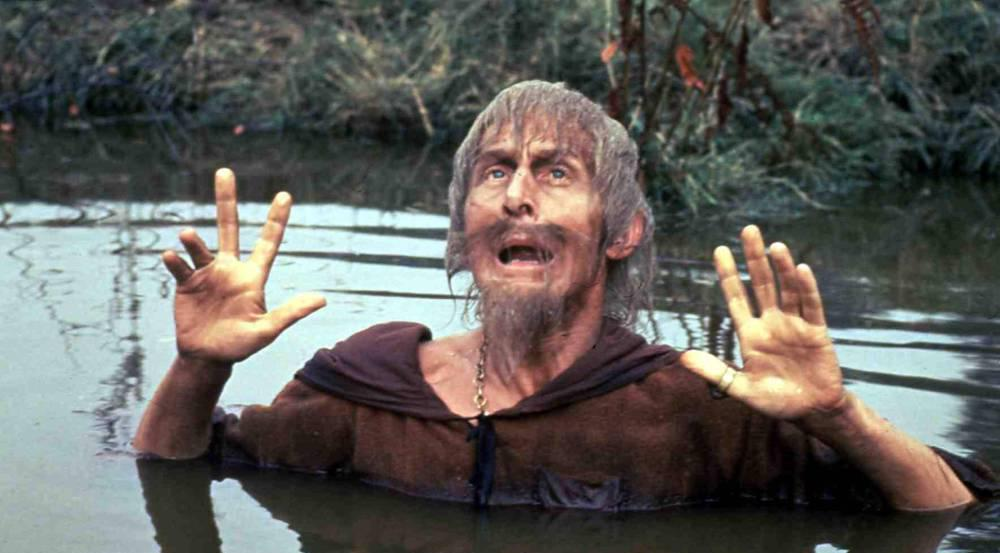 Geoffrey Bayldon in seiner Rolle als Catweazle