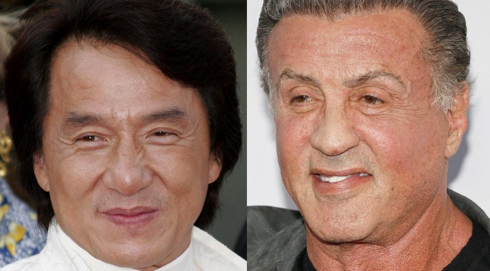 Jackie Chan und Sylvester Stallone (r.) standen noch nie gemeinsam vor der Kamera