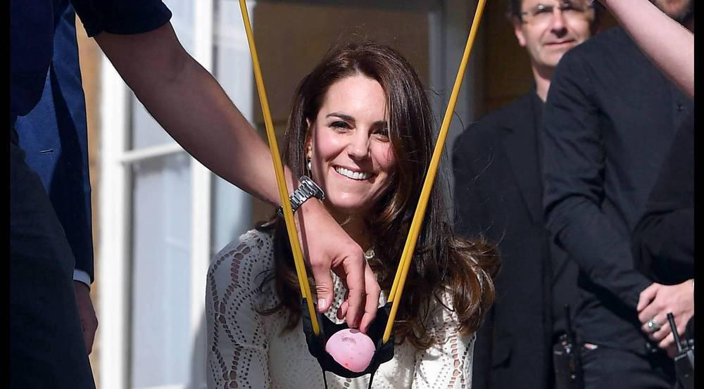 Herzogin Kate hat sichtlich Spaß bei der Party