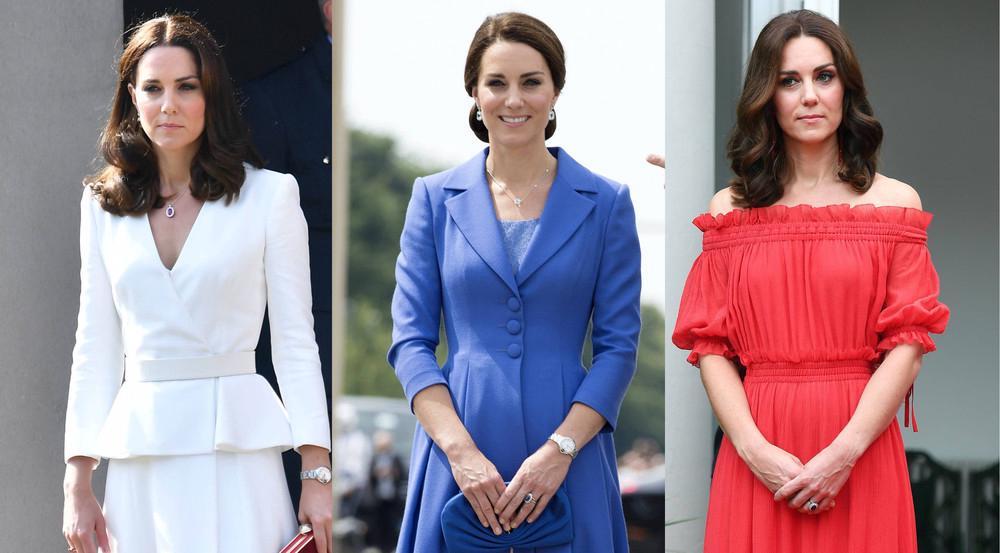Weiß, Blau, Rot - Kate trug die Farben ihres Landes