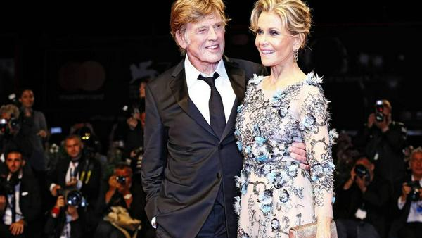 Robert Redford und Jane Fonda glänzen in Venedig