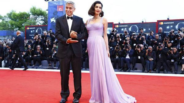 Die Clooneys in Venedig