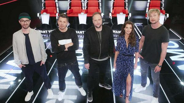 """Die Coaches von """"The Voice of Germany"""": Mark Forster, Michi Beck, Smudo, Yvonne Catterfeld und Samu Haber"""