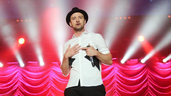 Justin Timberlake bei seinem Auftritt bei Rock in Rio 2015