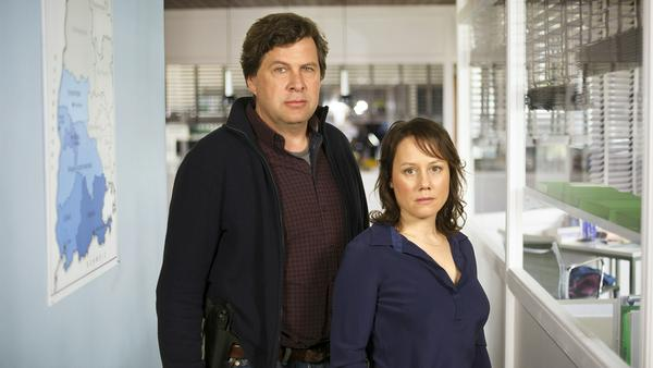 Eva Löbau als Hauptkommissarin Franziska Tobler und Hans-Jochen Wagner als Hauptkommissar Friedemann Berg