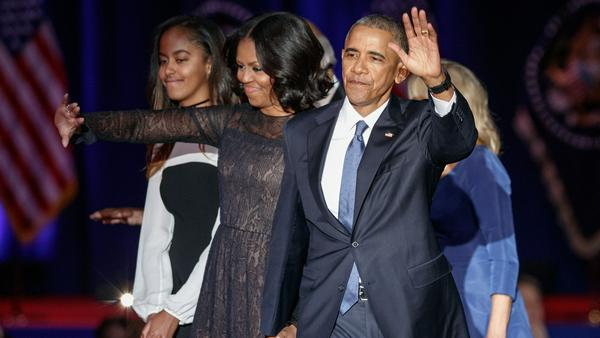 Barack Obama und seine Frau Michelle werden vielleicht bald New Yorker