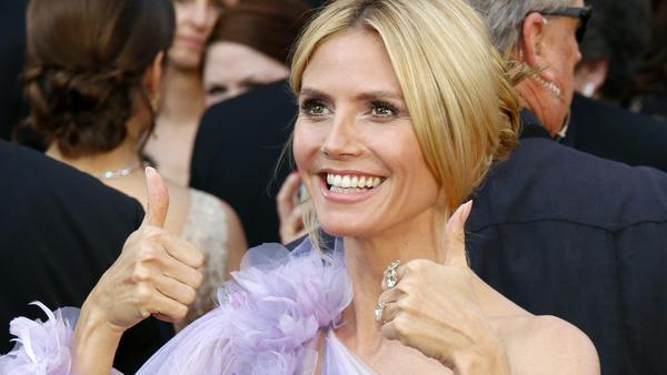 Lächelt alle Kritik beiseite: Heidi Klum