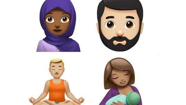 Hier vier der über hundert neuen Emojis, die ab dem nächsten Software-Update auf die iPhones kommen werden