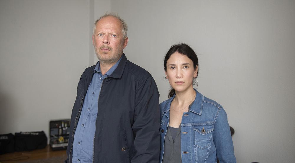 Zum letzten Mal Seite an Seite: Die Kommissare Klaus Borowski (Axel Milberg) und Sarah Brandt (Sibel Kekilli)