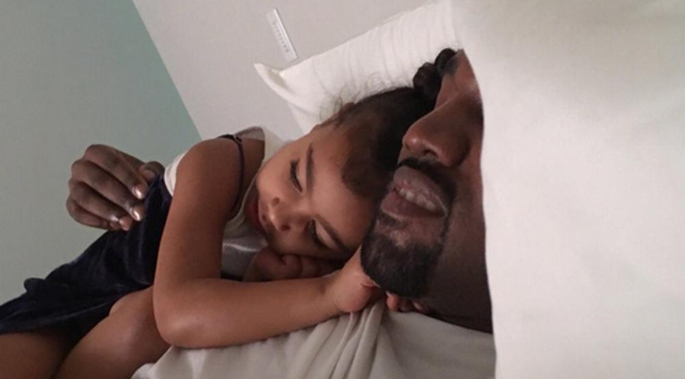 Kanye West und seine Tochter North schlafen am Vatertag erst einmal aus