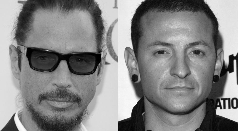 Chester Bennington (l.) und Chris Cornell waren seit vielen Jahren gut befreundet