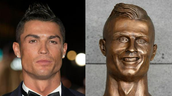 Ob Cristiano Ronaldo seine goldene Statue gefällt?