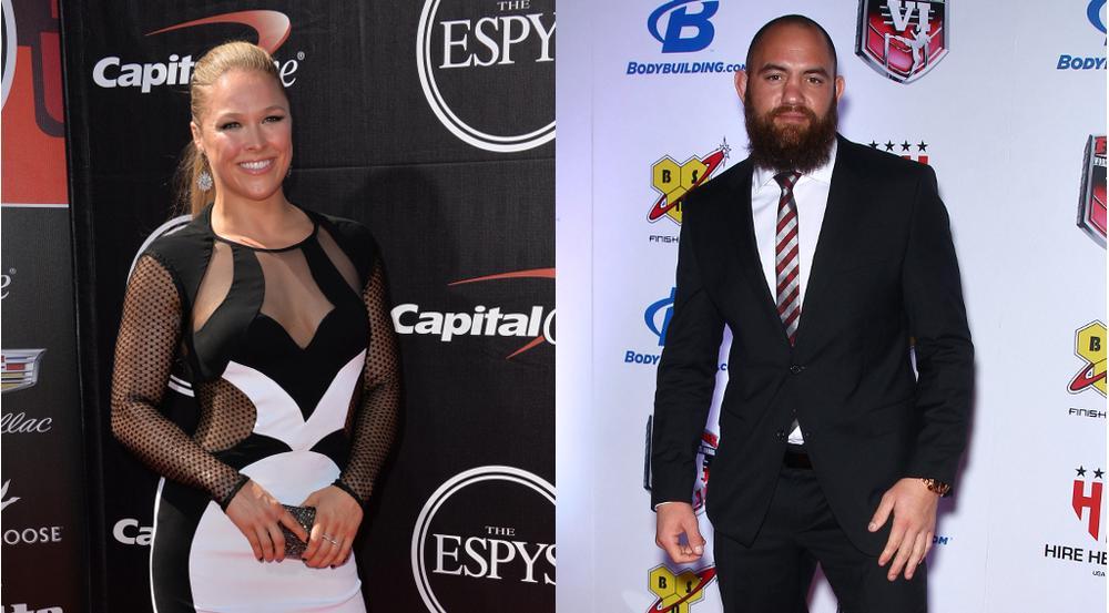 Die MMA-Kämpfer Ronda Rousey und Travis Browne gehen künftig als Ehepaar durchs Leben