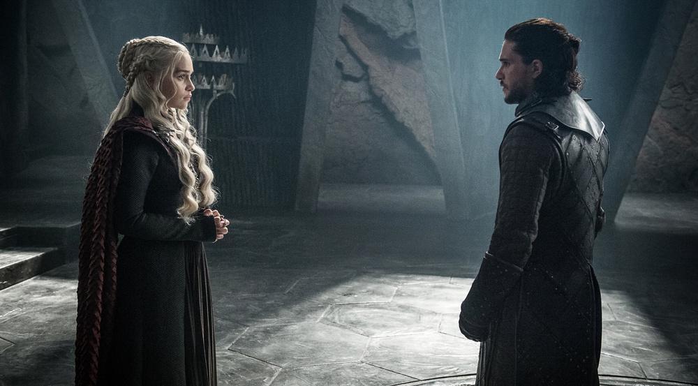 Daenerys Targaryen (Emilia Clarke) trifft auf Jon Schnee (Kit Harington)