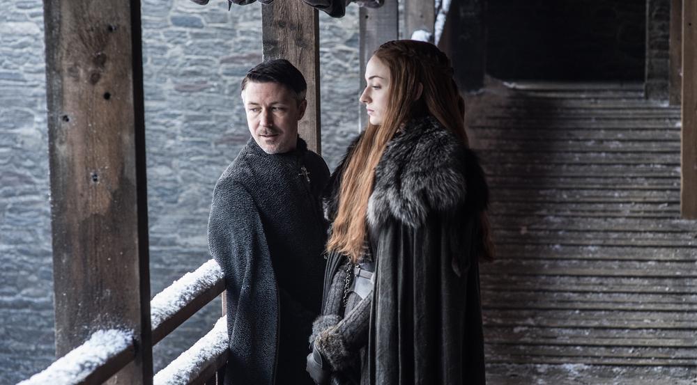 Kleinfinger (Aidan Gillen) hat das letzte Mal versucht, Sansa (Sophie Turner) zu manipulieren.