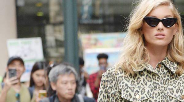 """Leoprint geht immer: Elsa Hosk auf dem Weg zur Anprobe für """"Victoria's Secret"""""""
