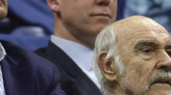 Eine Legende unter den Zuschauern: Der Tennissport treibt Sean Connery hin und wieder noch in die Öffentlichkeit