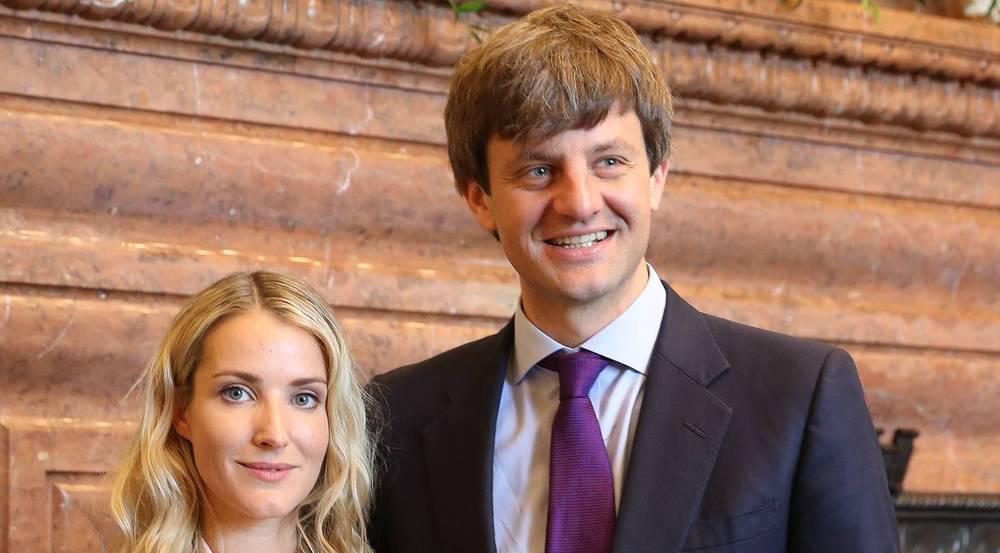 Prinz Ernst August junior und seine frisch angetraute Frau Ekaterina Malysheva